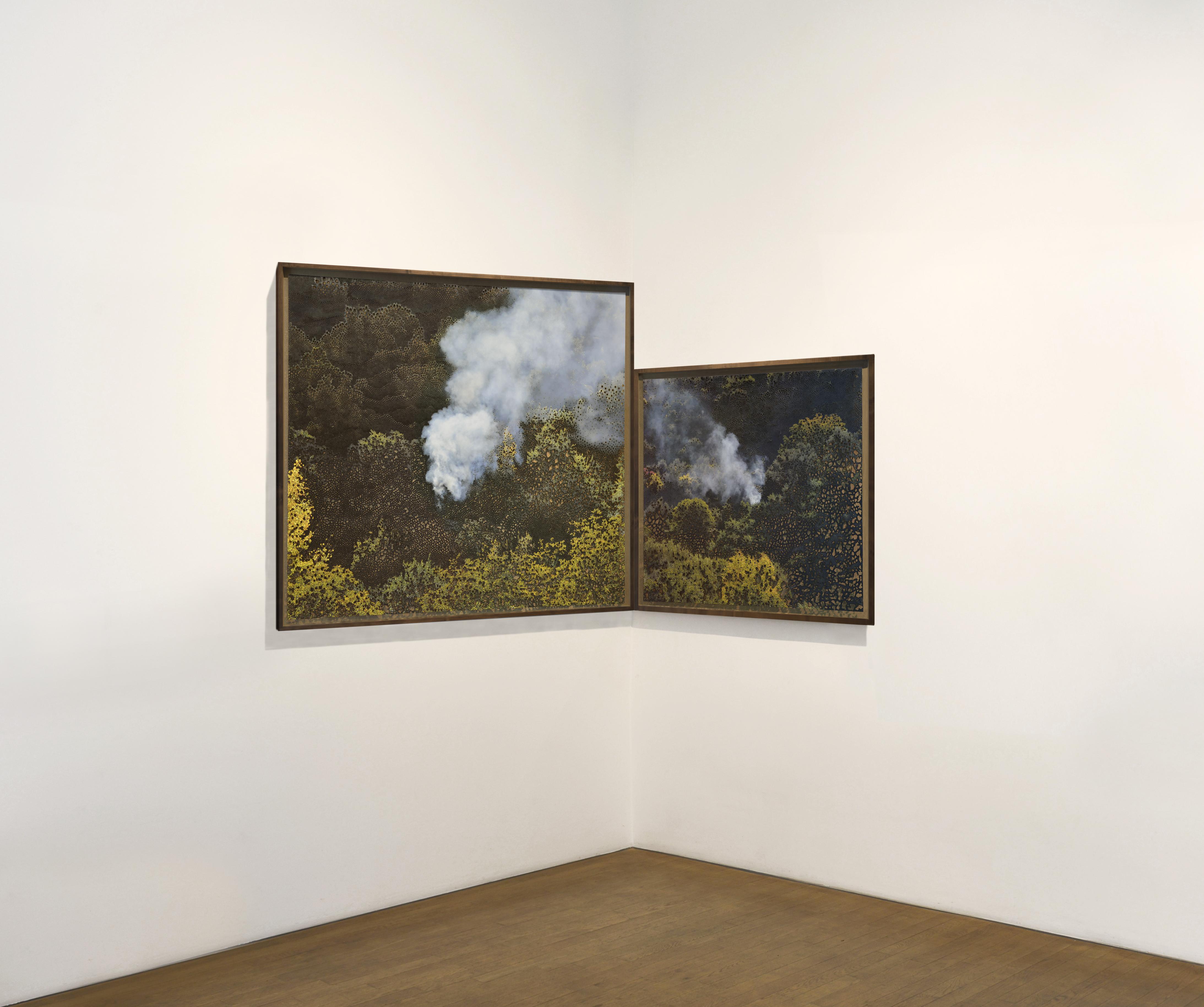 Miguel Rothschild, Groß-und Kleingeist,118 x 206 cm, diptyque,tirages à jet d'encre avec brûlures|_@_||_@_||_@_|